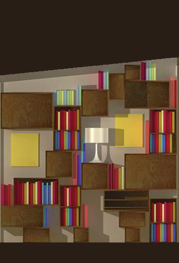 image 3d bibliothèque aérienne