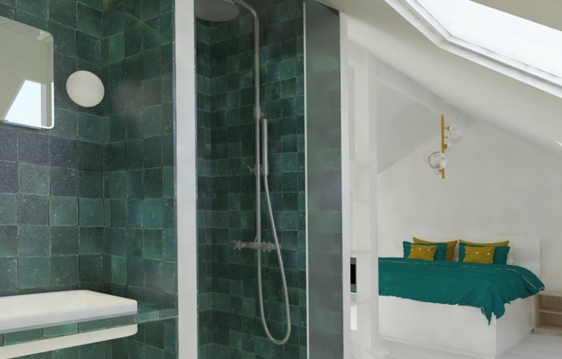 Chambre 3e-Sallle de bain